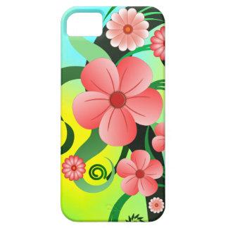 iPhone floral del hibisco tropical rosado 5 casos iPhone 5 Fundas