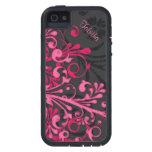 iPhone floral elegante 5 del negro intrépido de la iPhone 5 Protectores