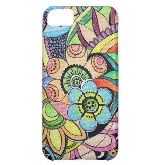iPhone floral enrrollado 5case