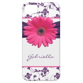 iPhone floral púrpura 5 de la margarita de Gerber  iPhone 5 Protector