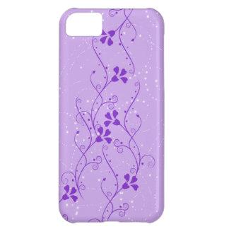 iPhone floral púrpura 5 de las ramas Funda Para iPhone 5C