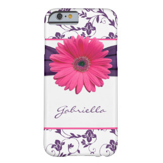 iPhone floral púrpura 6 Ca de la margarita de Funda Para iPhone 6 Barely There