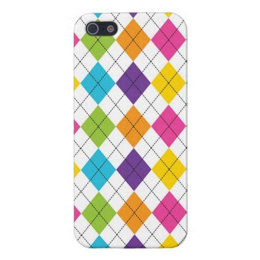 iPhone fresco colorido de Argyle 5 casos para los  iPhone 5 Funda