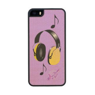iPhone fresco de los auriculares 5/5 caso delgado Funda De Arce Carved® Para iPhone 5 Slim