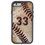 iPhone fresco del béisbol del vintage del número Funda De iPhone 6 Tough Xtreme