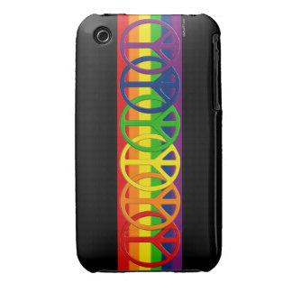 iPhone gay de la paz del arco iris 3 casos Funda Para iPhone 3 De Case-Mate