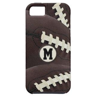 iPhone gráfico moderno 5 del fútbol del monograma iPhone 5 Case-Mate Carcasa