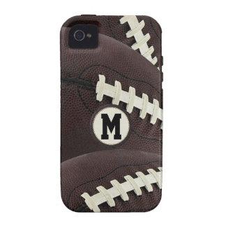 iPhone gráfico moderno del fútbol del monograma iPhone 4 Carcasa