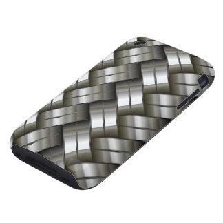 iPhone gris 3G/3Gs, caso duro del metal plateado iPhone 3 Tough Carcasa