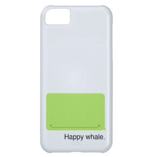 iPhone Happy Whale Case iPhone 5C Cover