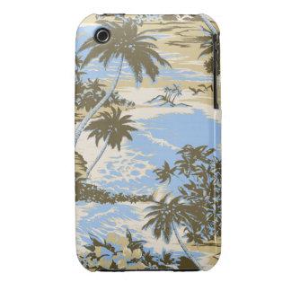 iPhone hawaiano 3GS de Barely There de la bahía de iPhone 3 Carcasas