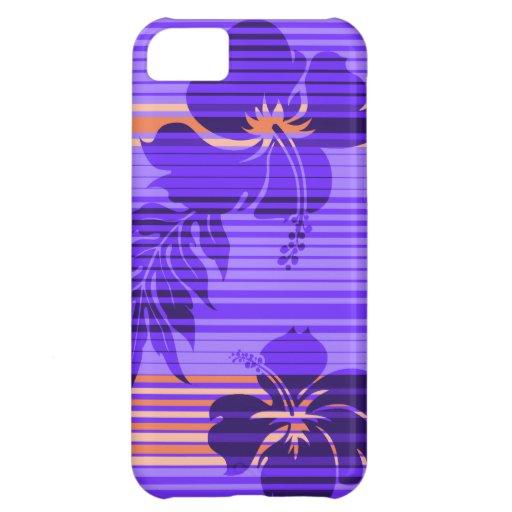 iPhone hawaiano 5Cases de la raya del hibisco de