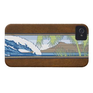iPhone hawaiano de la muestra de la resaca de iPhone 4 Case-Mate Fundas