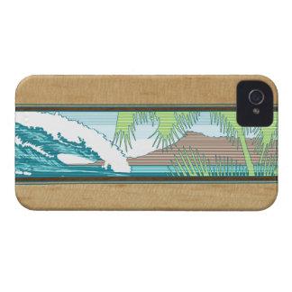 iPhone hawaiano de la muestra de la resaca de Case-Mate iPhone 4 Cárcasas