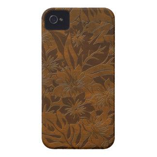 iPhone hawaiano de madera de la playa de Anini fal Case-Mate iPhone 4 Coberturas