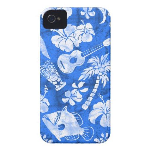 iPhone hawaiano del batik de la playa de Makapuu 4 Case-Mate iPhone 4 Funda