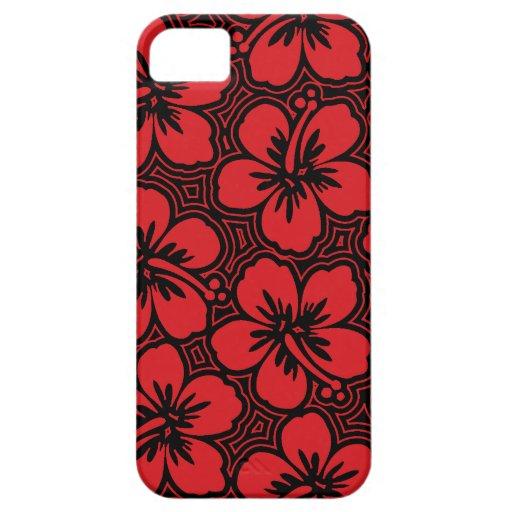 iPhone hawaiano del hibisco de la isla 5 casos Funda Para iPhone 5 Barely There