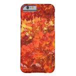 iPhone hermoso de las hojas de la caída 6 gracias Funda De iPhone 6 Barely There