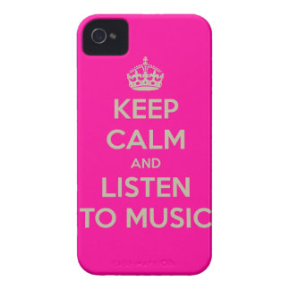 Iphone hoesje with keep calm text iPhone 4 cover