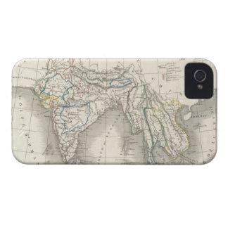 iPhone indio 4 de la impresión del mapa de la Indi iPhone 4 Cárcasas