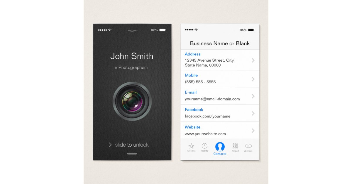 iPhone Business Cards & Templates | Zazzle