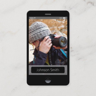 iPhone iOS Style - Personal Photo Profile Business Card