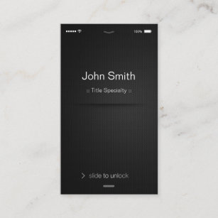 Generic business cards templates zazzle iphone ios style simple generic black and white business card accmission Gallery