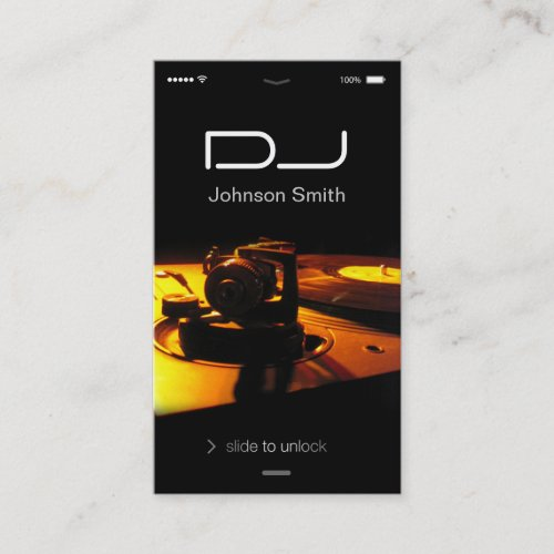 iPhone iOS Style - Turntable headphone Pub DJ Business Card