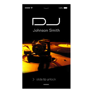 iPhone iOS Style - Turntable headphone Pub DJ Double-Sided Standard Business Cards (Pack Of 100)
