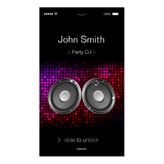 iPhone iOS Style - Unique and Stylish Party DJ Business Card