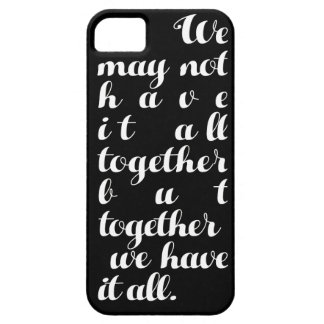 iPhone iPad case family quote black and white