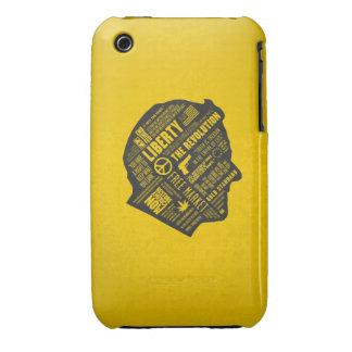 iPhone libertario 3/3GS del pensamiento abstracto iPhone 3 Case-Mate Protector