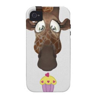 iPhone lindo 4 4S de la jirafa y de la magdalena iPhone 4/4S Carcasa
