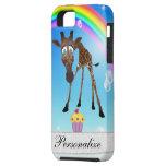 iPhone lindo 5 de la jirafa, de la magdalena y del iPhone 5 Cárcasa