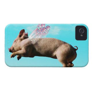 Iphone lindo del cerdo del vuelo 4 casos iPhone 4 coberturas