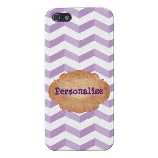 iPhone listo caja violeta y blanca de 5/5S de los iPhone 5 Funda