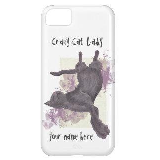iPhone loco de la señora del gato 5 casos Funda Para iPhone 5C