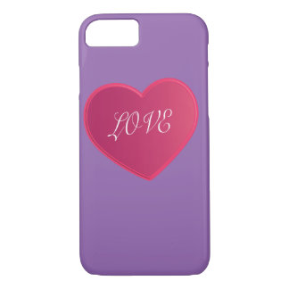 IPHONE Love simple heart 2015 love pink color iPhone 7 Case