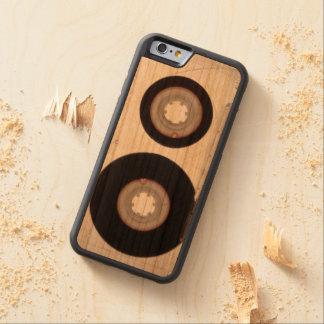 iPhone: Magnetic Tape Audio Cassette. Wooden Carved Cherry iPhone 6 Bumper Case
