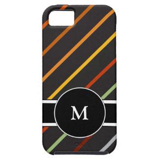 iPhone masculino del monograma 5 casos iPhone 5 Fundas