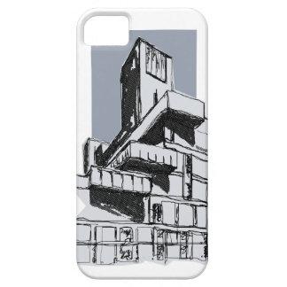 iPhone modernista del edificio de la arquitectura iPhone 5 Fundas