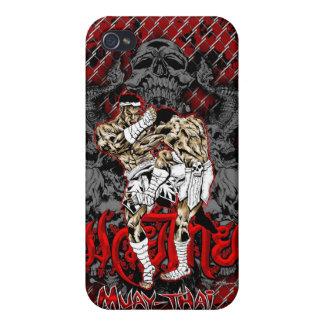 iPhone Muay-Tailandés 4 del guerrero del cráneo iPhone 4 Carcasa