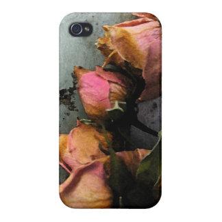 iPhone muerto 4 de la acuarela de los rosas iPhone 4 Protectores