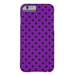 iPhone negro púrpura 6 de los puntos de n