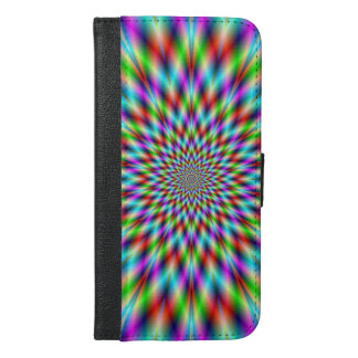 iPhone or Galaxy Wallet Case  Neon Star Exploding