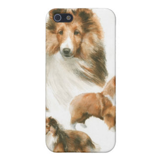 iPhone pedigrí del collie del perro iPhone 5 Protectores