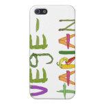 Iphone personalizado amante vegetal vegetariano 4 iPhone 5 cárcasas