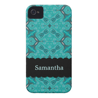 iPhone personalizado Aquamarine elegante 4 de la c Case-Mate iPhone 4 Cárcasa