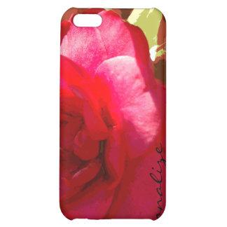 iPhone personalizado Camelia rojo 4 casos