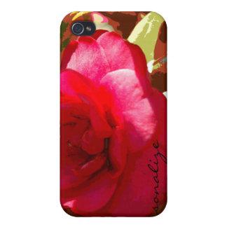 iPhone personalizado Camelia rojo 4 casos iPhone 4 Protectores